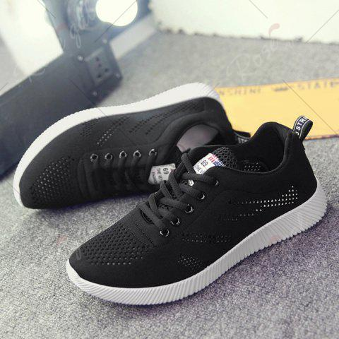 Store Tie Up Breathable Casual Shoes - 43 BLACK Mobile