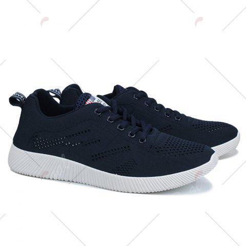 Latest Tie Up Breathable Casual Shoes - 40 DEEP BLUE Mobile