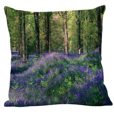 Outfits Lavender Forest Printed Square Pillow Case - W18 INCH * L18 INCH GREEN Mobile