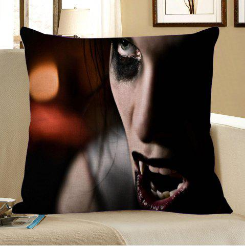 Shop Halloween Vampire Pattern Square Pillowcase - W18 INCH * L18 INCH COLORMIX Mobile