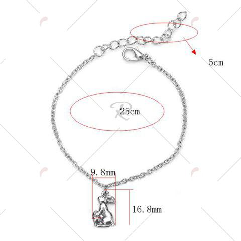 Chic Rabbit Charm Stainless Steel Chain Bracelet - SILVER  Mobile