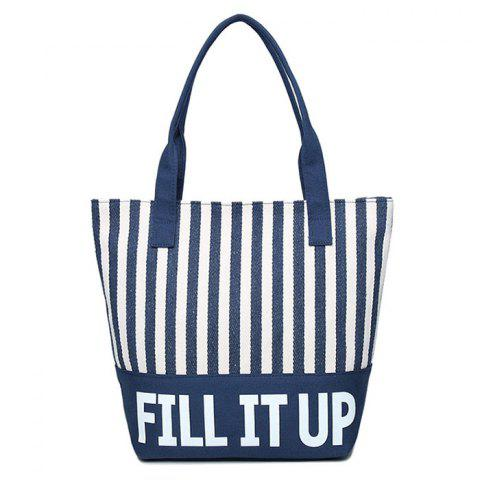Buy Canvas Striped Pattern Shoulder Bag