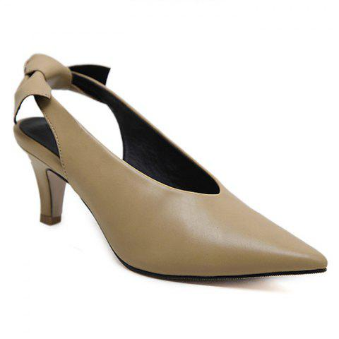 Store Slip On Slingback Point Toe Pumps APRICOT 39