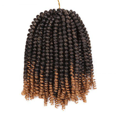 Short Fluffy Afro Spring Twist Braids Hair Extensions NOIR + OR