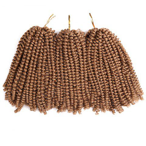 Fashion Short Fluffy Afro Spring Twist Braids Hair Extensions LIGHT BROWN
