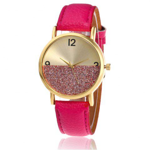 Buy Glitter Face Faux Leather Strap Watch TUTTI FRUTTI