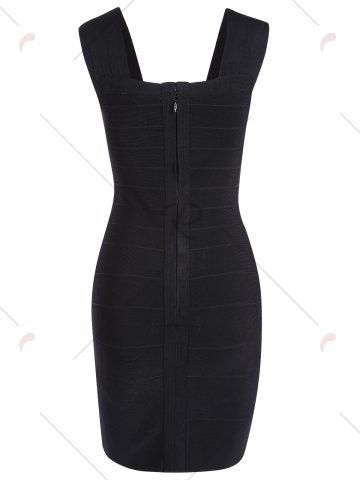 Unique Night Out Metal Embellished Bandage Dress - M BLACK Mobile