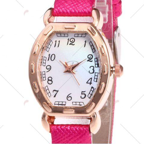 Hot Faux Leather Band Number Watch - TUTTI FRUTTI  Mobile