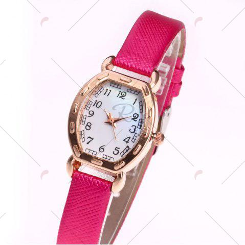 Shop Faux Leather Band Number Watch - TUTTI FRUTTI  Mobile