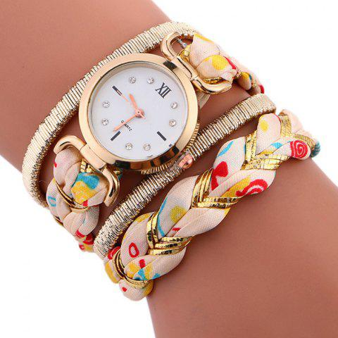 Affordable Braided Strap Wrap Bracele Watch