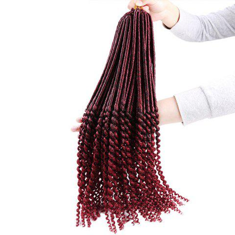 Sale Long Crochet Faux Dread Locs Hair Braids Extensions WINE RED