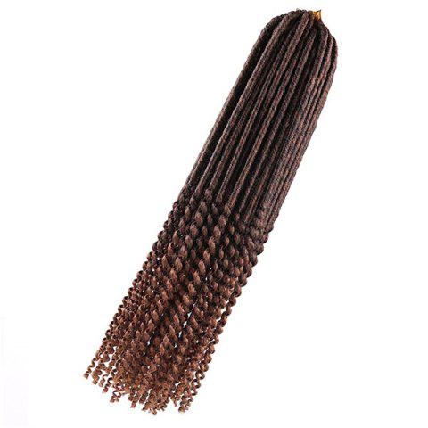 New Long Crochet Faux Dread Locs Hair Braids Extensions - DEEP BROWN  Mobile