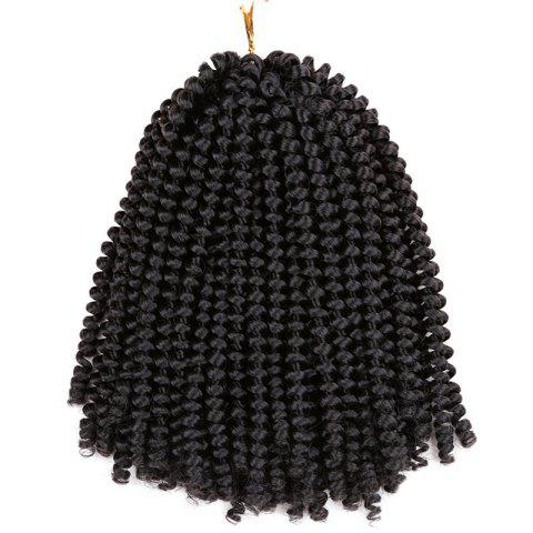 Short Fluffy Afro Spring Twist Braids Hair Extensions Noir