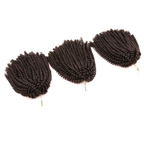 Fashion Short Fluffy Afro Spring Twist Braids Hair Extensions - GREYISH BROWN  Mobile