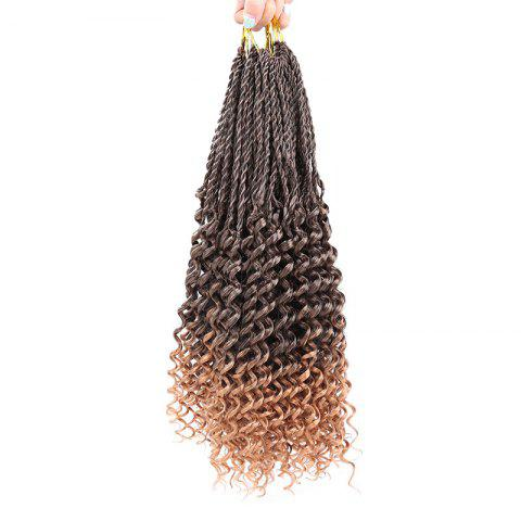 Fashion Long Crochet Pre Twisted Flashy Curl Braids Hair Extensions BROWN 14INCH