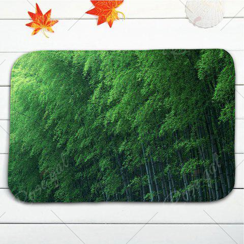 Fashion Flannel Skidproof 3Pcs Bamboo Forest Toilet Mat Set - GREEN  Mobile
