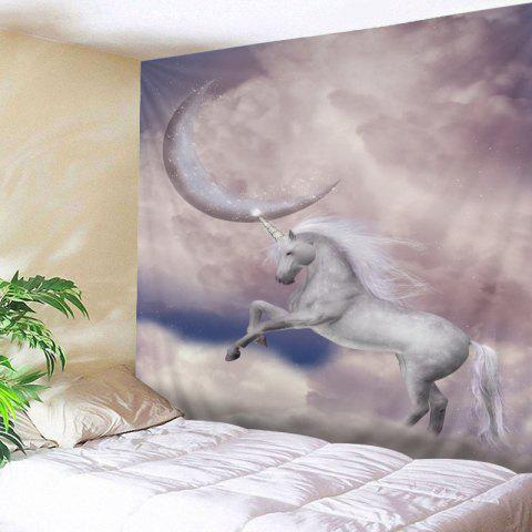 Cheap Moon Unicorn Print Tapestry Wall Hanging Art Decoration