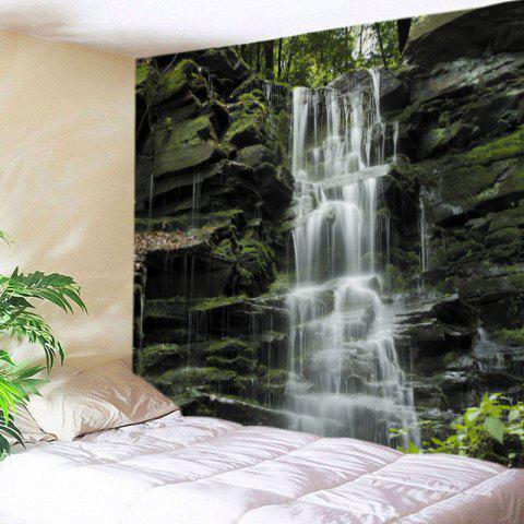 Buy Stone Falls Print Tapestry Wall Hanging Art Decoration COLORMIX W91 INCH * L71 INCH