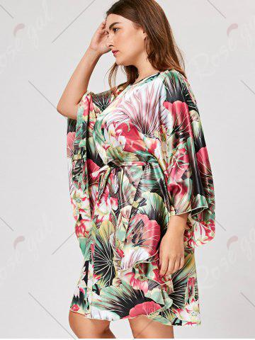 Outfits Plus Size Tunic Sleepwear with Batwing Sleeve - ONE SIZE GREEN Mobile