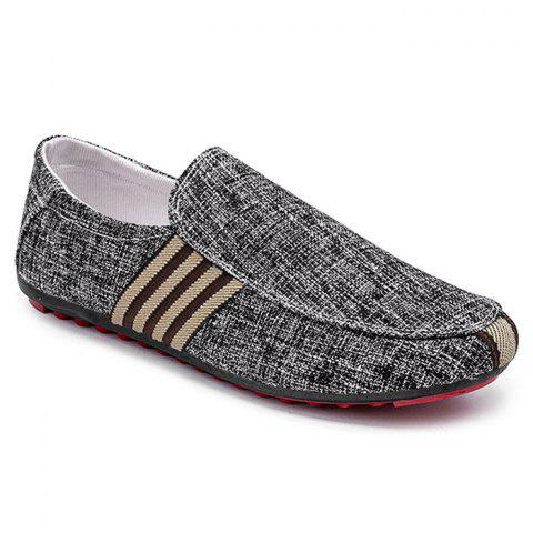 Online Stripe Trim Slip On Casual Shoes