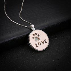 Glow in the Dark Claw Footprint Love Necklace - ROSE GOLD