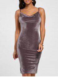 Cut Out Velvet Bodycon Dress