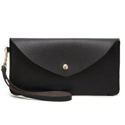 Faux Leather Wristlet Clutch Bag -