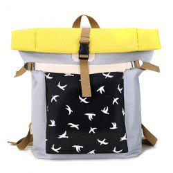 Casual Nylon Bird Print Backpack