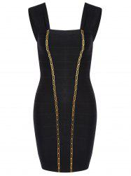 Night Out Metal Embellished Bandage Dress