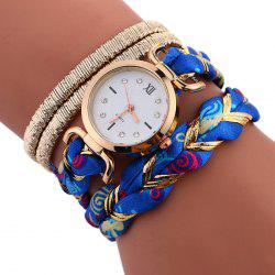 Braided Strap Wrap Bracele Watch - BLUE