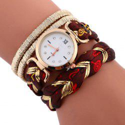Braided Strap Wrap Bracele Watch -
