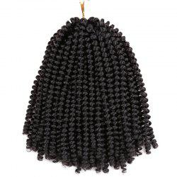 Short Fluffy Afro Spring Twist Braids Hair Extensions - Noir