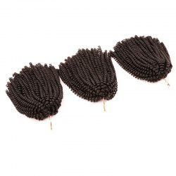 Short Fluffy Afro Spring Twist Braids Hair Extensions