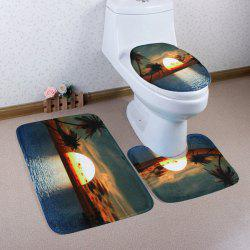 Sunset Sea View Antislip 3Pcs Bathroom Mats Set - COLORMIX