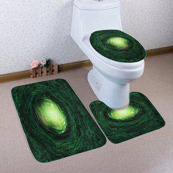 3 Pieces Non-slip Fairy Tree Hole Toilet Mats Set - DEEP GREEN