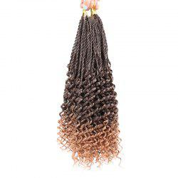 Long Crochet Pre Twisted Flashy Curl Braids Hair Extensions - BROWN 14INCH