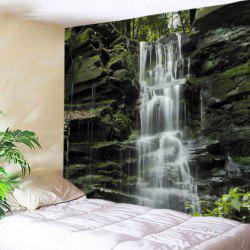 Stone Falls Print Tapestry Wall Hanging Art Décoration - Multicolore