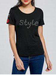 Beading Appliqued Embellished T-shirt