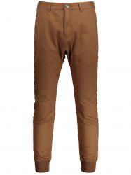 Casual Zip Fly Jogger Pants -