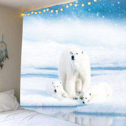 Polar Bear Waterproof Wall Art Tapestry -