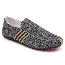 Stripe Trim Slip On Casual Shoes -