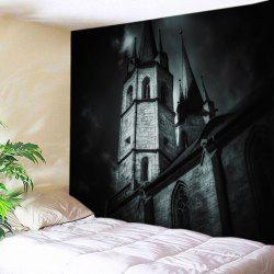 Castle Print Halloween Tapestry Wall Hanging Art Decoration -