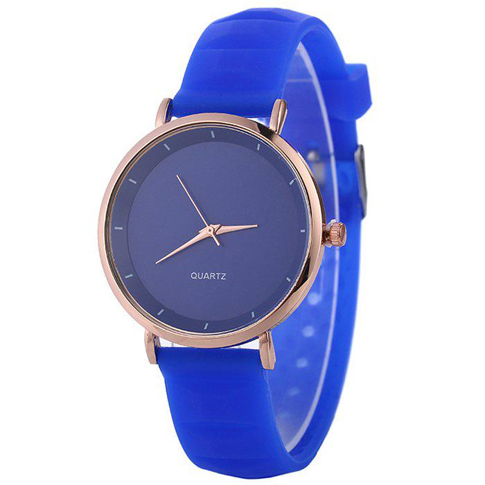Outfits Silicone Strap Minimalist Round Watch