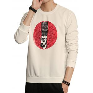 Cartoon Fingerprint Crew Neck Sweatshirt