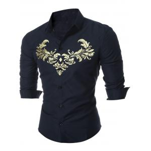Royal Print Long Sleeve Shirt
