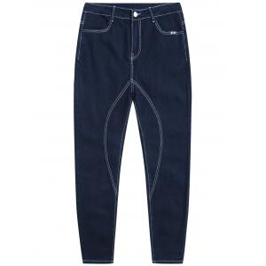 Zip Fly Tapered Fit Jeans