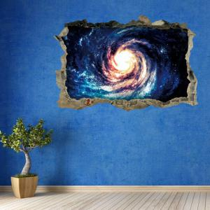 Galaxy Vortex Removable 3D Broken Wall Art Sticker