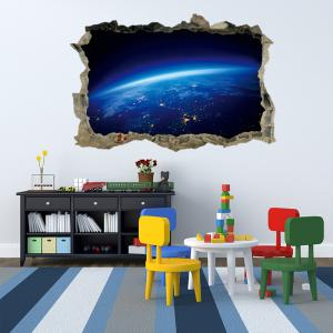 Planet Surface Removable 3D Broken Wall Art Sticker