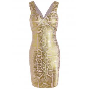 Sleeveless Glitter Sweetheart Neck Bandage Dress