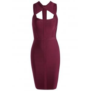 Caged Cut Out Bodycon Bandage Dress